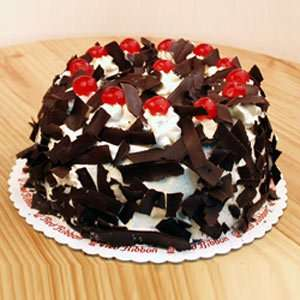 Black forest breming with cherries
