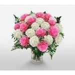Carnations vase arrangement