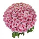50 long stem pink roses bouqet