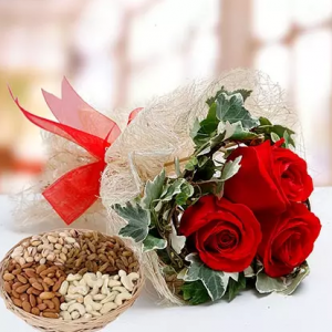 Roses and Healthy Basket
