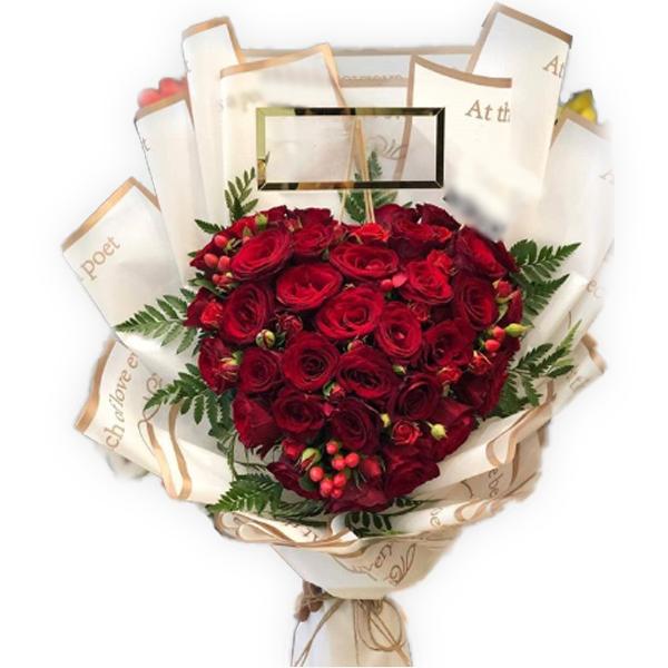 3 Dozen heart bouquet