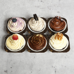 6 Assorted Designer Cupcakes