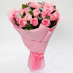 Pink flushing roses