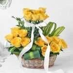Radiant Yellow Rose Arrangement